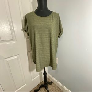 💋 Sonoma Olive Green Women's Top X-large